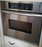 27'' KitchenAid  Convection wall oven+ matching 24'' Dishwasher