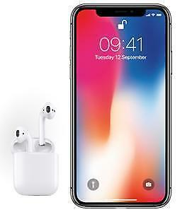 iPhone X -  64 GB + Apple Airpods - BRAND NEW SEALED WITH WARRANTY - BACK TO SCHOOL DEAL