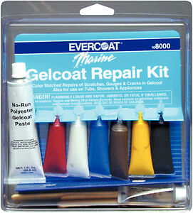 Evercoat Fiberglass Resin Marine Gelcoat Repair Kit, Boat Hull - 108000