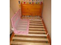 Lindam pink bedrail-excellent condition