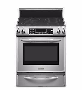 MEGA SALE !!!! KITCHEN AID stainless stove new end of line
