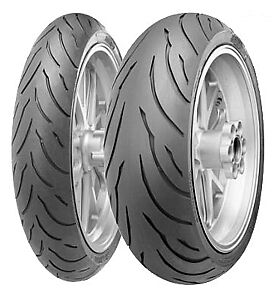 NEW CONTINENTAL CONTI MOTION MOTORCYCLE TIRE SET 120/70-17 & 180/55-17