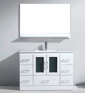 "BLOW OUT SALE!!!! Oakville 48"" White Bathroom Vanity"
