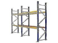 Twin bay Pallet Racking garage shelfs , warehouse storage shelving