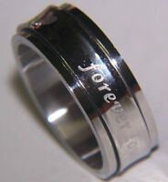 Wedding Band Stainless steel Forever Love  Spinning  Ring  NEW