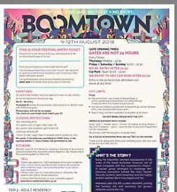 Urgent Boomtown ticket for sale!