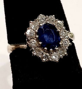 Sale! Was $2500, now $1500-18k White Gold, Sapphire and Diamond