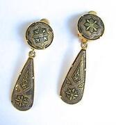 Damascene Earrings