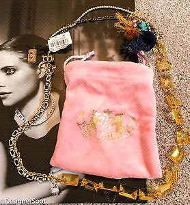 Juicy Couture multi Chain & amber