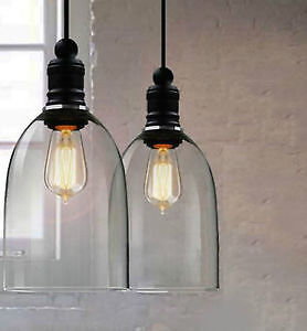 American Home Decor Vintage Pendant Lights Crystal Glass Hanging