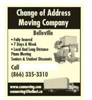 BELLEVILLE'S MOVING CO....(866) 335-3310..FREE QUOTES....