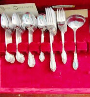 Vintage Silver Flatware 50 Piece NEVER USED