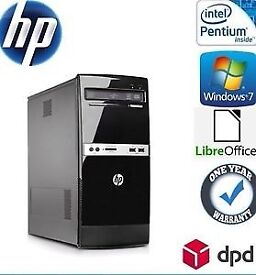 HP 500B MT PC Desktop 500 GB, Dual Core 3.2 GHz 4 GB Win 7 Pro WiFi DVDRW