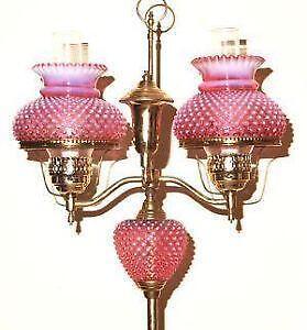Fenton Cranberry Lamps
