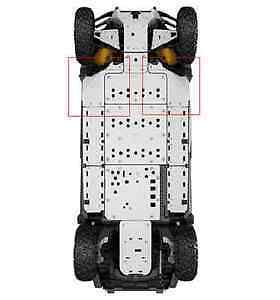 new can-am commander Lateral skid plates