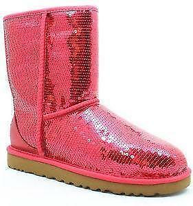 burgundy sequin uggs
