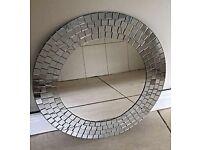 IKEA round mosaic mirror