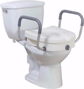 NEW! Raised Toilet Seat Cover with Handles