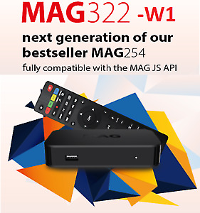 $200 Best iptv box new  mag322w1  with one year subscription