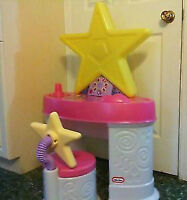 EXCELLENT CONDITION LITTLE TIKES PINK MAKEUP VANITY WITH CHAIR