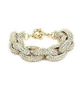 Gold Pave Link Bracelet