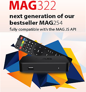 NEW IPTV BOX MAG322 $140 & MAG322W1 150 CHRISTMAS SPECIAL OFFER