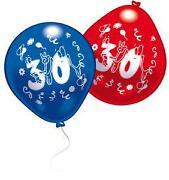 Luftballons 30 Geburtstag