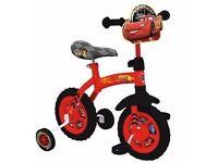 Disney Cars 2in1 10 Inch training Bike