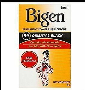 bigen 59 oriental black hair dye powder