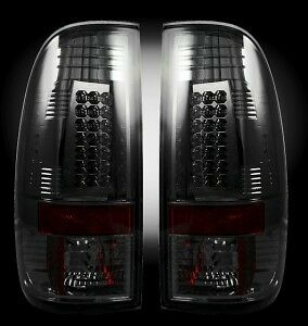 RECON-SMOKED-LED-Tail-Lights-99-07-Ford-Truck-250-350