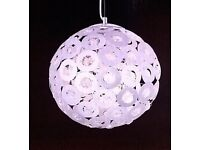 2 NEW BOXED LARGE ROUND CRYSTAL METAL CEILING LIGHTS COST £60 EACH NOW £40 FOR BOTH