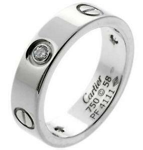 Cartier Love Ring Simple Mens Wedding Band In