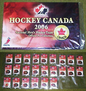2006 Canada National Men's Hockey Team Official Pin Collection