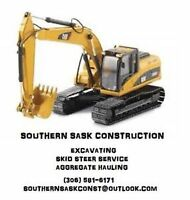 S.S.C - excavating, skid steer service and aggregate hauling!