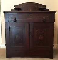 Country Pine Dry Sink Cabinet