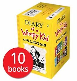 Unopened perfect condition Diary Of A Wimpy Kid: 10 book box set by Jeff Kinney