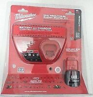 Milwaukee M12 kit (charger + battery) - NEW, sealed;