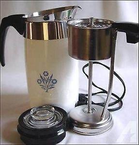 Vintage Corning Ware electric coffee percolator
