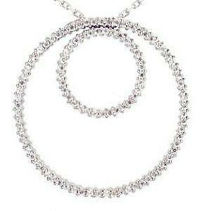 Diamond circle pendant ebay double circle diamond pendants mozeypictures Image collections