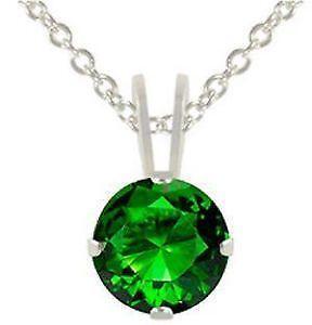Sterling Silver Emerald Pendant | eBay