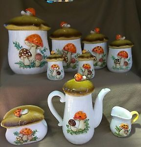Exceptional collection of vintage Merry Mushroom items