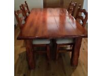 Brown Dining Table with 4 Chairs | Great Condition | Condition