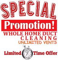 Duct cleaning special promotion just $130