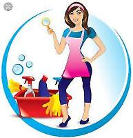 J'offre service femme ménage  2h =30$