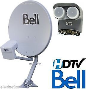 Bell satellite TV Dishes  Twin Quad LNB's & Receivers Brand new