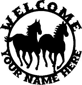 Custom-Western-Horses-WELCOME-Sign-Steel-DES2
