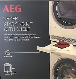 AEG Dryer Stacking Kit with Shelf SKP11