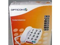 Opticom B300 - OAP Big Button Corded - White- Home phone - Never Used.