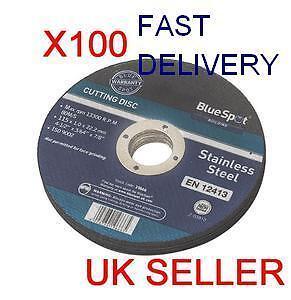 ANGLE-GRINDER-DISCS-x-100-THIN-1mm-CUTTING-DISC-METAL-STEEL-MAKITA-DEWALT-SKIL