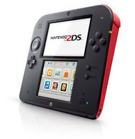 Nintendo 2ds Red Rouge Barely used + Pokemon Black